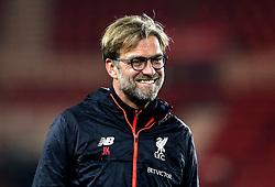 Liverpool manager Jurgen Klopp smiles on arrival at Middlesbrough for the Premier League fixture - Mandatory by-line: Robbie Stephenson/JMP - 14/12/2016 - FOOTBALL - Riverside Stadium - Middlesbrough, England - Middlesbrough v Liverpool - Premier League