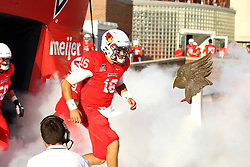 03 September 2016: Jake Kolbe takes the field.  NCAA FCS Football game between Valparaiso Crusaders and Illinois State Redbirds at Hancock Stadium in Normal IL (Photo by Alan Look)