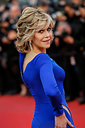"""Jane Fonda attends the """" The sea of trees """" screening during the 68th Cannes Film Festival in Cannes on May 16, 2015"""