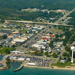 Aerial views of the Mackinaw City,