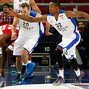 Anadolu Efes's Brian Hopson (R) during their Turkish Basketball League match Anadolu Efes between Tofas at the Abdi ipekci Arena in Istanbul, Turkey on Tuesday, 24 December, 2013. Photo by TURKPIX