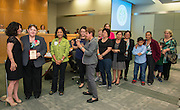 Juliet Stipeche, SanJuana Elizando and friends pose for a photograph during the Houston ISD Board of Trustees meeting, May 14, 2015.