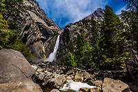 Lower Yosemite Fall, Yosemite Valley, Yosemite National Park, California USA.