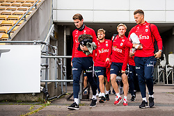 October 9, 2018 - LillestrØM, NORWAY - 181009 HÃ¥vard Nordtveit, Fredrik Midtsjø, Mats Møller Dæhli and goalkeeper Ørjan HÃ¥skjold Nyland arrive ahead of a training session on October 9, 2018 in Lillestrøm..Photo: Jon Olav Nesvold / BILDBYRÃ…N / kod JE / 160321 (Credit Image: © Jon Olav Nesvold/Bildbyran via ZUMA Press)