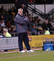Photo: Kevin Poolman.<br />Derby County v Crystal Palace. Coca Cola Championship. 16/12/2006. Palace manager Peter Taylor looks unhappy with side again.