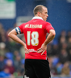 Bristol City's Aaron Wilbraham wears the captains armband - Photo mandatory by-line: Matt McNulty/JMP - Mobile: 07966 386802 - 03/04/2015 - SPORT - Football - Oldham - Boundary Park - Oldham Athletic v Bristol City - Sky Bet League One