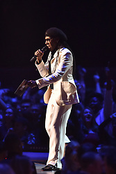 EDITORIAL USE ONLY.<br /><br />Nile Rodgers on stage at the Brit Awards at the O2 Arena, London.