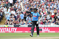 Sussex's David Wiese getting 50 during the Vitality T20 Finals Day semi final 2018 match between Sussex Sharks and Somerset at Edgbaston, Birmingham, United Kingdom on 15 September 2018.
