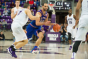 FORT WORTH, TX - FEBRUARY 6: Perry Ellis #34 of the Kansas Jayhawks brings the ball up court against the TCU Horned Frogs on February 6, 2016 at the Ed and Rae Schollmaier Arena in Fort Worth, Texas.  (Photo by Cooper Neill/Getty Images) *** Local Caption *** Perry Ellis