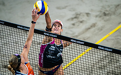 Jorna Heidrich SUI in action during the last day of the beach volleyball event King of the Court at Jaarbeursplein on September 12, 2020 in Utrecht.