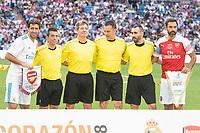 Real Madrid Legends Raul Gonzalez and Arsenal Legends Robert Pires during Corazon Classic Match between Real Madrid Legends and Arsenal Legends at Santiago Bernabeu Stadium in Madrid, Spain. June 03, 2018. (ALTERPHOTOS/Borja B.Hojas)