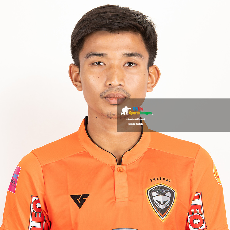 THAILAND - JUNE 25: Kittikon Pungkhuntod #24 of Nakhonratchasrima Mazda FC on June 25, 2019.<br /> .<br /> .<br /> .<br /> (Photo by: Naratip Golf Srisupab/SEALs Sports Images/MB Media Solutions)