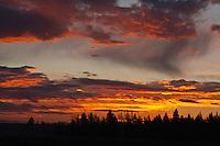 Sunrise over Grand Teton National Park, Wyoming, USA.