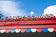 The Candy Corner arcade sign in Glen Echo park. WATERMARKS WILL NOT APPEAR ON PRINTS OR LICENSED IMAGES.