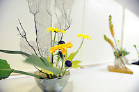 Ikebana, the Japanese art of flower-arranging, is on display during the 63rd annual Obon Festival at the Buddhist Temple of Salinas on Sunday.
