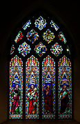 Stained glass window c 1863 by  H Hughes,  Wetherden church, Suffolk, England, UK