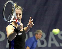October 17, 2017 - Luxembourg, Luxembourg - Luxembourg - BGL BNP PARIBAS LUXEMBOURG OPEN 2017- 14/10 - 21/10/2017 -  French player Pauline Parmentier (Credit Image: © Panoramic via ZUMA Press)