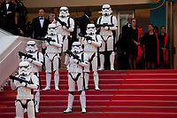 Storm troopers on the red steps at the Solo: A Star Wars Story gala screening at the 71st Cannes Film Festival, Tuesday 15th May 2018, Cannes, France. Photo credit: Doreen Kennedy