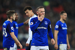 13 January 2018 -  Premier League - Tottenham Hotspur v Everton - A dejected Wayne Rooney of Everton - Photo: Marc Atkins/Offside