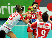 Håndball , 20. desember 2009 , Norge - Spania , Bronse-finale , hvor nordk tok 3. plassen<br /> World Cup China Game to square 3 Spain Norway 20 28 Linn Kristin Riegelhuth (<br /> Norway only