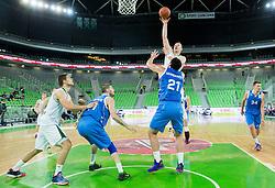 Alen Omic #23 of KK Union Olimpija during basketball match between KK Union Olimpija Ljubljana and BC Levski Sofia (BUL) in 12th Round of ABA League 2014/15, on December 13, 2014 in Arena Stozice, Ljubljana, Slovenia. Photo by Vid Ponikvar / Sportida