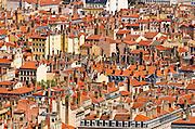 Old town Vieux Lyon from Fourvière Hill, France (UNESCO World Heritage Site)