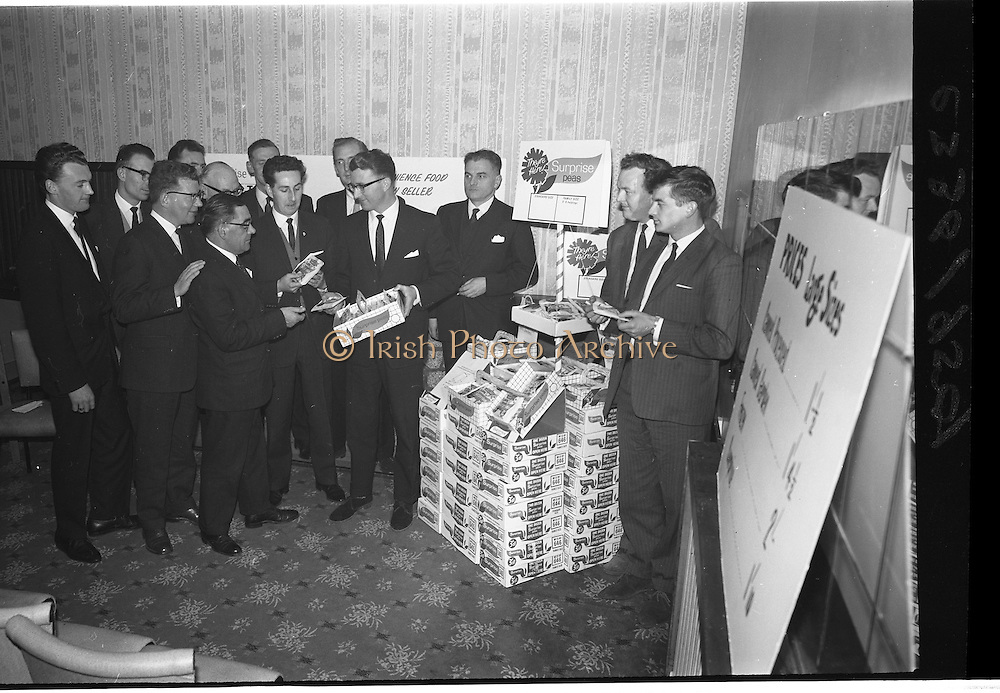 """06/03/1964<br /> 03/06/1964<br /> 06 March 1964<br /> W and C McDonnell Ltd., Drogheda, Conference at Powers Hotel, Dublin. The event was to advertise """"Surprise Peas""""."""