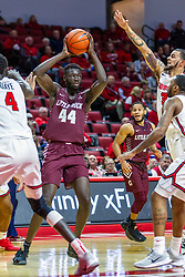 NORMAL, IL - November 10: Ruot Monyyong during a college basketball game between the ISU Redbirds and the Little Rock Trojans on November 10 2019 at Redbird Arena in Normal, IL. (Photo by Alan Look)