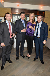 Left to right, ALEXANDER TULLOCH, EDWARD TAYLOR, SACHA HALE and JAMES STUNT at the 3rd birthday party for Spectator Life magazine hosted by Andrew Neil and Olivia Cole held at the Belgraves Hotel, 20 Chesham Place, London on 31st March 2015.