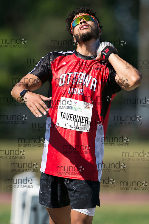 OTTAWA, ON -- 03 July 2018: Telvin Tavernier competing in the decathlon shot put at the 2018 Pan American Combined Events Cup held at the Terry Fox Athletics Facility in Ottawa, Canada. (Photo by Sean Burges / Mundo Sport Images).