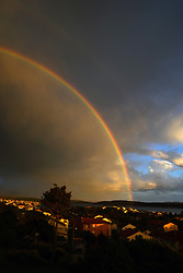 THEMENBILD - Regenbogen zum Sonnenuntergang auf der Insel Rab in Kroatien am Dienstag, 26. Mai. 2020 // Rainbow and sunset over the island of Rab, Croatia on Tuesday, May 26. 2020. EXPA Pictures © 2020, PhotoCredit: EXPA/ Pixsell/ Goran Novotny/HaloPix<br /> <br /> *****ATTENTION - for AUT, SLO, SUI, SWE, ITA, FRA only*****