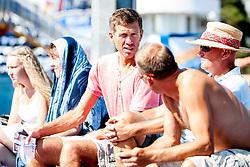 Selector of Slovenian national football team, Srecko Katanec during a tennis match in 1st round of singles at 24 ATP Vegeta Croatia Umag 2013, on July 23, 2013, in Umag, Croatia. (Photo by Urban Urbanc / Sportida)