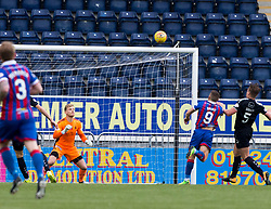 Inverness Caledonian Thistle's John Baird misses a chance. Falkirk 0 v 0 Inverness Caledonian Thistle, Scottish Championship game played 14/10/2017 at The Falkirk Stadium.