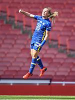 Football - 2021 / 2022 Women's Super League - Arsenal vs Chelsea - Emirates Stadium - Sunday 5th September 2021<br /> <br /> Chelsea FC Women's Erin Cuthbert celebrates scoring her side's equalising goal to make the score 1-1 .<br /> <br /> COLORSPORT/Ashley Western