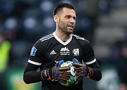 Thomas Mikkelsen (Lyngby BK) under kampen i 3F Superligaen mellem Brøndby IF og Lyngby Boldklub den 1. marts 2020 på Brøndby Stadion (Foto: Claus Birch).