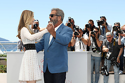 Erin Moriarty and Mel Gibson attend the 'Blood Father' Photocall at the annual 69th Cannes Film Festival at Palais des Festivals on May 21, 2016 in Cannes, France. Photo by ShootPix/ABACAPRESS.COM