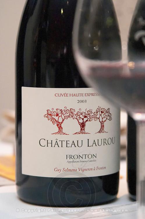 Chateau Laurou, Cuvee haute Expression, Guy Salmona, Fronton, France Fronton Haut-Garonne France