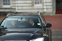 Lady Sarah Chatto and husband Daniel leaving the Queen's Christmas lunch at Buckingham Palace, London.