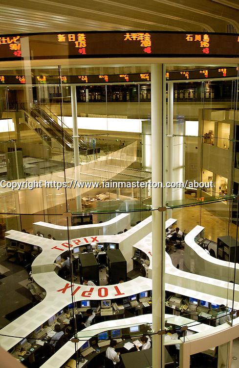 Interior of Tokyo Stock Exchange building