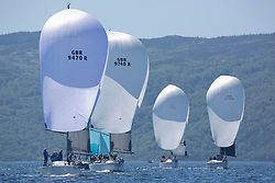 Sailing - SCOTLAND  - 28th May 2018<br /> <br /> Final days racing the Scottish Series 2018, organised by the  Clyde Cruising Club, with racing on Loch Fyne from 25th-28th May 2018<br /> <br /> RC35 Fleet, GBR9470R, Banshee, Charlie Frize, CCC, Corby 33.<br /> <br /> Credit : Marc Turner<br /> <br /> Event is supported by Helly Hansen, Luddon, Silvers Marine, Tunnocks, Hempel and Argyll & Bute Council along with Bowmore, The Botanist and The Botanist