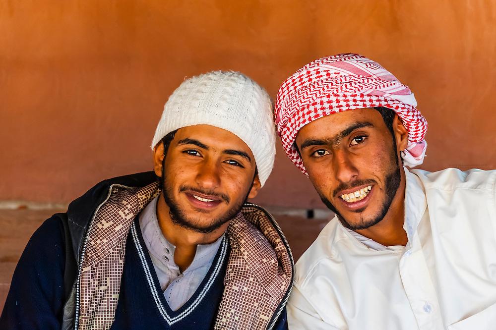 In a Bedouin tent in the Arabian Desert, Wadi Rum, Jordan.