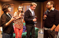 Playing With Grown-Ups<br /> By Hannah Patterson<br /> <br /> Directed by Hannah Eidinow<br /> at Theatre 503, London, Great Britain <br /> 15th May 2013 <br /> press photocell<br /> <br /> Shane Attwooll<br /> Ben Caplan<br /> Daisy Hughes<br /> Trudi Jackson<br /> <br /> SET DESIGN: Simon Scullion<br /> <br /> LIGHTING DESIGN: Nicholas Holdridge<br /> <br /> COSTUME DESIGNER: Natalie Pryce<br /> <br /> SOUND DESIGN: Thomas Wilson<br /> <br /> Photograph by Elliott Franks