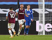 Football - 2020 / 2021 Premier League - West Ham United vs Brighton & Hove Albion - London Stadium<br /> <br /> West Ham United's Tomáš Sou?ek celebrates scoring his side's second goal.<br /> <br /> COLORSPORT/ASHLEY WESTERN