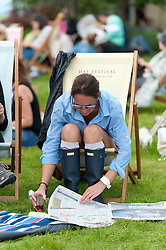 © Licensed to London News Pictures. 28/05/2016. Hay-on-Wye, Powys, Wales, UK. Fine weather on the third day of the Hay Festival at Hay-on-Wye, Wales. Photo credit: Graham M. Lawrence/LNP