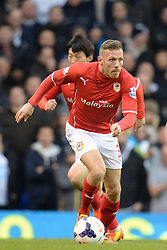 Cardiff's Craig Bellamy runs with the ball - Photo mandatory by-line: Mitchell Gunn/JMP - Tel: Mobile: 07966 386802 02/03/2014 - SPORT - FOOTBALL - White Hart Lane - London - Tottenham Hotspur v Cardiff City - Premier League