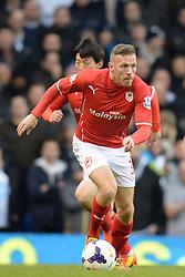 Cardiff's Craig Bellamy runs with the ball - Photo mandatory by-line: Mitchell Gunn/JMP - Tel: Mobile: 07966 386802 02/03/2014 - SPORT - FOOTBALL - White Hart Lane - London - Tottenham Hotspur v Cardiff City - Premier League