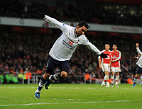 Aaron Lennon Celebrates Scoring 4th Goal<br /> Tottenham Hotspur 2008/09<br /> Arsenal V Tottenham Hotspur (4-4) 29/10/08<br /> The Premier League<br /> Photo Robin Parker Fotosports International
