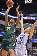 April 4, 2016; Indianapolis, Ind.; Megan Mullings puts up a shot against Tess Bruffey in the NCAA Division II Women's Basketball National Championship game at Bankers Life Fieldhouse between UAA and Lubbock Christian. The Seawolves lost to the Lady Chaps 78-73.