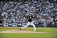 CHICAGO - JUNE 26:  Freddy Garcia #43 of the Chicago White Sox pitches against the Chicago Cubs on June 26, 2010 at U.S. Cellular Field in Chicago, Illinois.  The White Sox defeated the Cubs 3-2.  (Photo by Ron Vesely)