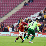 Galatasaray's Umut Bulut (M) during their Turkish Super League soccer match Galatasaray between Akhisar Belediye Genclik ve Spor at the AliSamiYen Spor Kompleksi TT Arena at Seyrantepe in Istanbul Turkey on Sunday, 20 December 2015. Photo by Aykut AKICI/TURKPIX